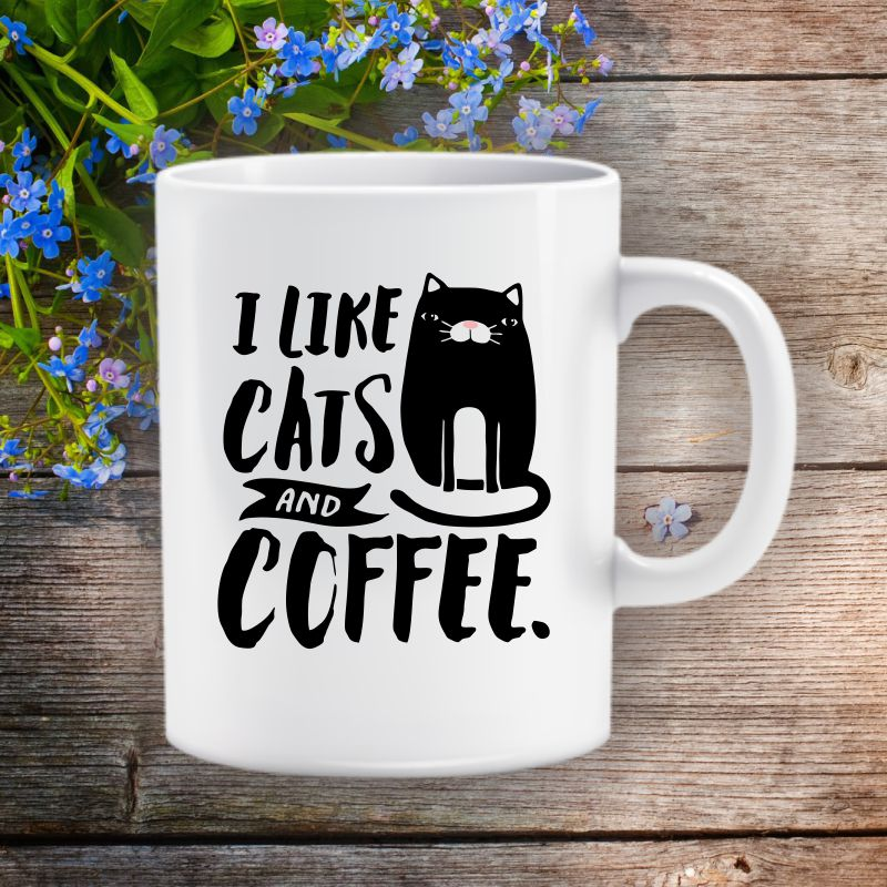 I Iike Cats and Coffee bögre